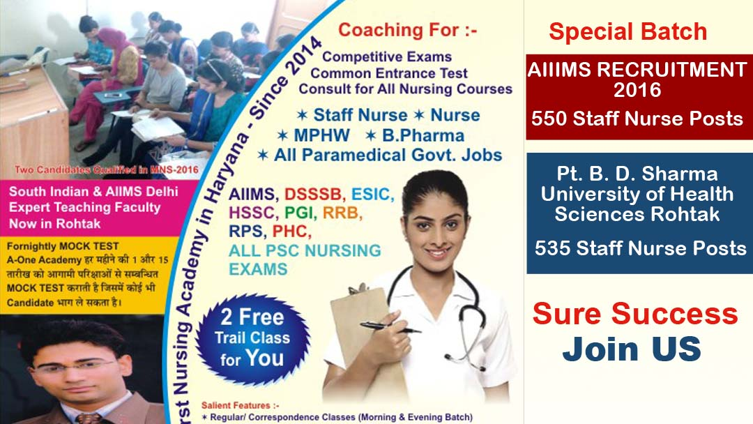 Best Staff Nurse Coaching and Nursing Academy In Rohtak
